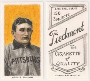 Rare Honus Wagner card