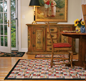 hooked rugs at Claire Murray