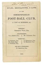 Sheffield FC football rule book