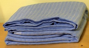 Old bedding and towels