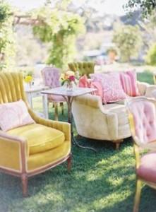 furniture in garden