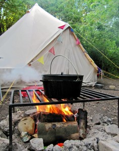 food cooking over fire