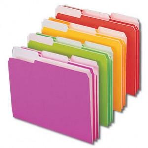 color file folders