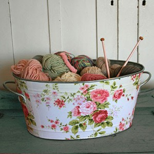 wash tub storage for yarn