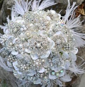 crystal wedding bouquet