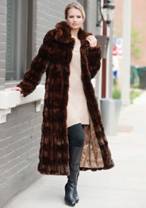 FABULOUS FURS mock mink coat