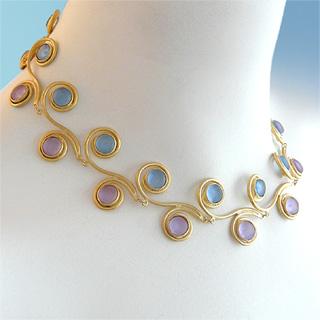 glass petal necklace from Modern Artisans