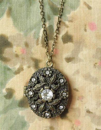 Starry night locket from Victorian Trading Company