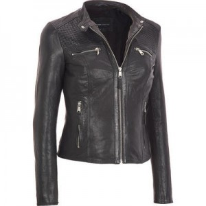 Marc New York Leather Jacket  w Top Zip Pockets