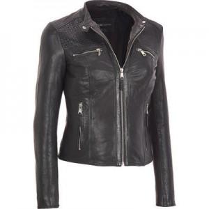 Marc New York Leather Jacket  w Top Zip Pockets