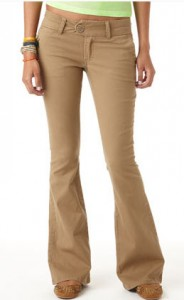 Fit and Flare Twill Pants