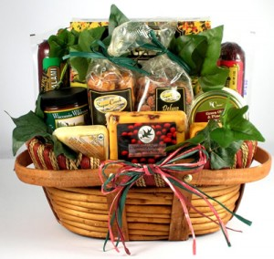 Gift basket loaded with goodies