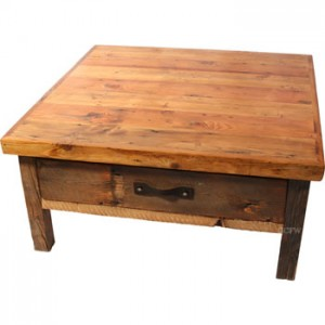 Reused barnwood furnishings