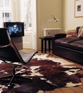southwestern decor cowhide rug