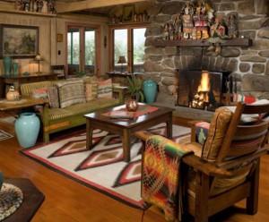 southwest home decorating fireplace