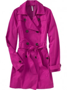 purple spring coat