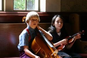 kids at bass and violin less