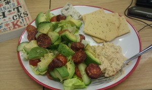 lunch salad plate