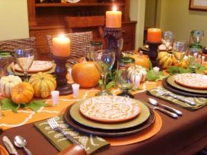 harvest table setting