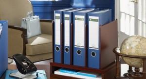 binders on a desk