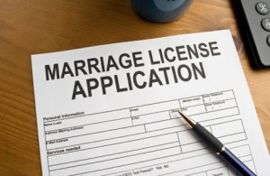 marriage license applications
