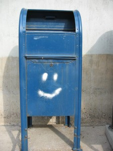 smile on mailbox