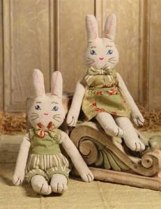 Fritz & Freida Rag Doll Bunnies