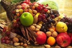Cornucopia with produce