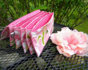 Pink coupon holder