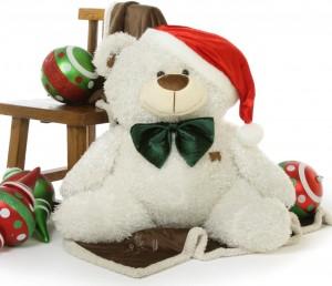 Giant Christmas teddy bear