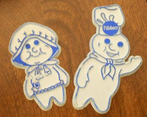 Pillsbury Dough Boy and Girl Magnets