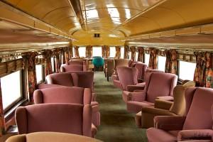 First class train car