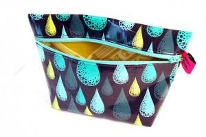 blue print cosmetic bag