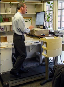 man using treadmill desk