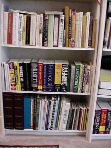 full bookshelf