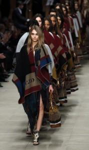 runway models in handwoven clothing