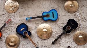 Guitars and cymbols