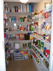stocked kitchen pantry