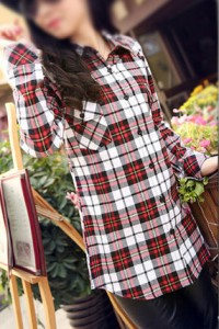 woman flannel shirt