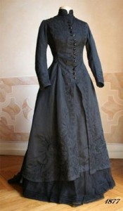 1800s black wedding dress