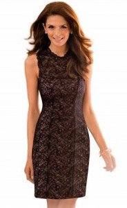 lace shaper dress