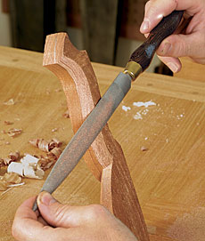 using a rasp on wood