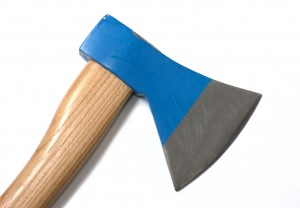 blue hatchet