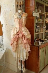 vintage dress on dress form