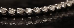 close up diamond bracelet