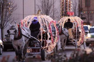 lighted carriages