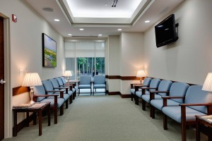 waiting room with lamps