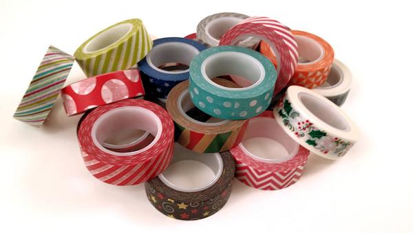 pile of washi tape rolls