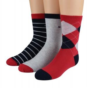 red, black and white socks