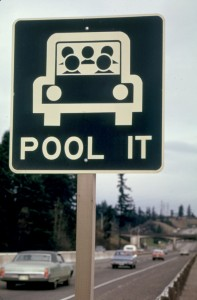car pool sign